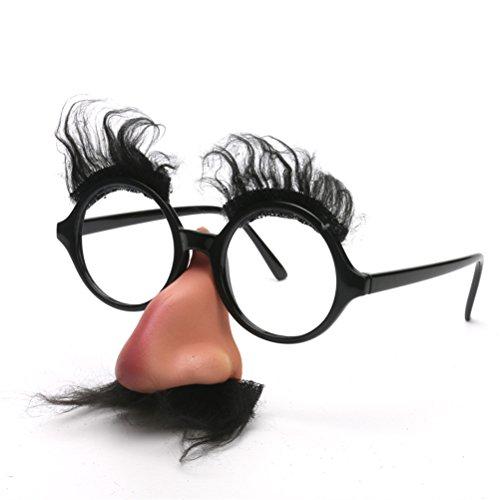Sonnenbrille mit Nasenblenden Klassische Brillen Kostüm Zubehör (Gruppe Lustige Halloween-kostüme)