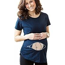 Highdas Mama embarazada camiseta del bebé del patrón del pío divertido Mujeres ...