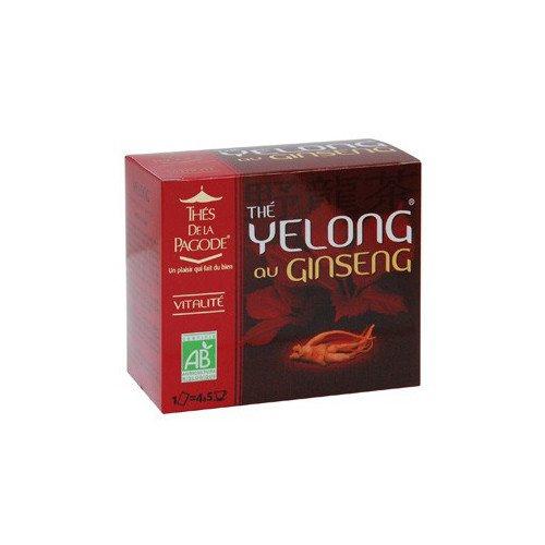 Thés De La Pagode - Healthy Teas - Thé Yelong au Ginseng - 90g (Case of 20)