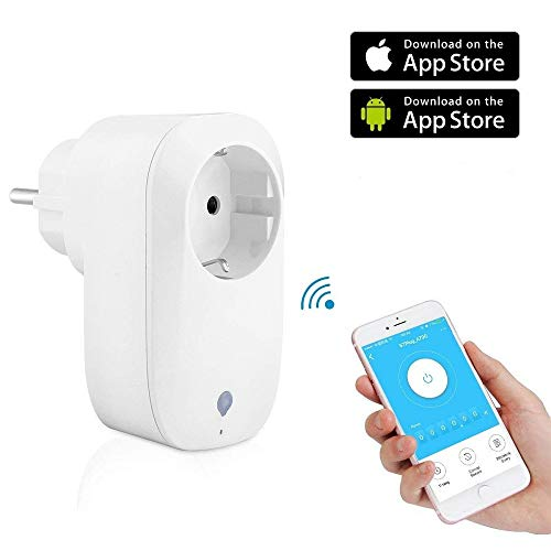 CaaWoo Presa Intelligente WiFi Smart Plug,Compatibile con Amazon Alexa e Google Home,per iOS e Android(1 Smart Plug)