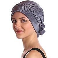 Deresina Headwear Pañuelos para Quimioterapia con Trenzado y de Perlas Frente