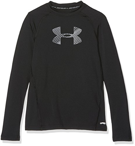 Under Armour Jungen Armour LS Langarmshirt, Black, YM