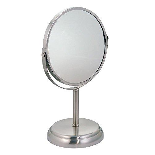 Freistehende Badezimmer-spiegel (iDesign York Freistehende Makeup-Spiegel für Badezimmer Arbeitsplatten, Metallspiegel, zweifarbig)