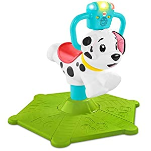 Fisher-Price Bounce and Spin Puppy, Juguete Musical para Montar, Multicolor (Mattel GHY03)