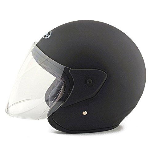 Moto Moto Scooter Moto Cyclomoteur Vélo électrique automobile Tête travail protection sécurité bedeckung Helmet Chapeau demi-sphère 218Noir