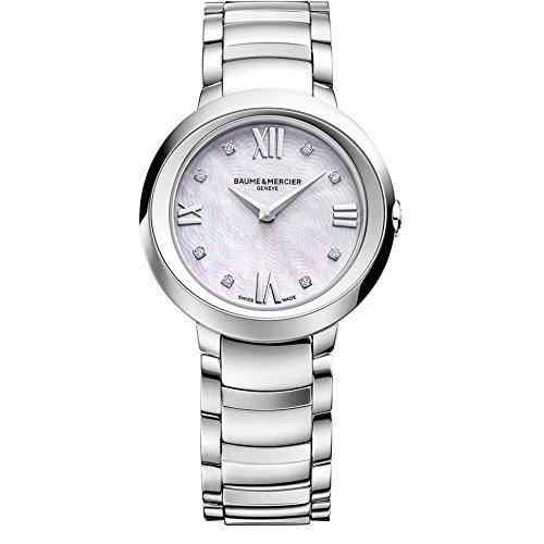 Baume & Mercier Promesse Damen-Armbanduhr Diamant 30mm Schweizer Quarz 10158