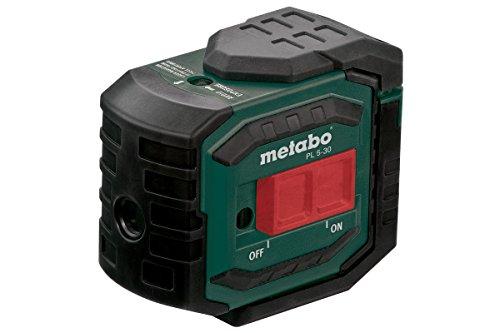 Metabo 606164000 Punktlaser PL 5-30   +Zielplatte, Gürteltasche, Wandhalterung, 3 Batterien AA 1,5 V (LR6)   Funkt.: Punktfunktion / Rechter Winkel (90°) / Lotfunktion (Klasse 2 / Anzahl Punkte 5)