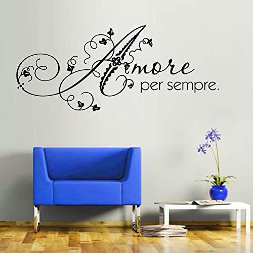 Love Forever Wall Sticker Art Romantico Home Decor Fai Da Te Rimovibile Adesivo Decorativo da Parete De105cm X 44cm