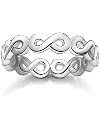 Thomas Sabo Women Ring infinity 925 Sterling Silver TR2124-001-12