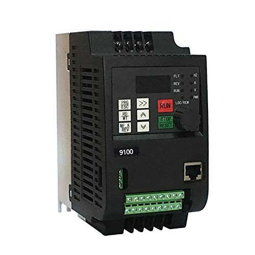 HermosaUKnight 220V 2.2KW Single Phase Input 220V 3 Phase Output Durable 10A VFD Inverter