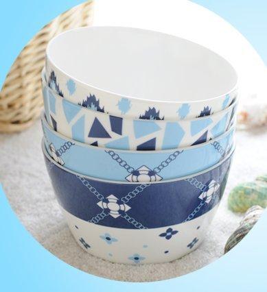 TBFD Ciotola in ceramica set coppette porcellana bone China rice bowl,1 - Bone Doppia Bowl