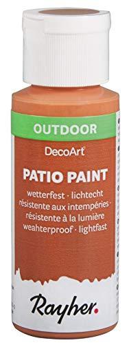 Rayher 38610220 Patio Paint, terrakotta, Flasche 59 ml, wetterfeste Acrylfarbe für Den Außenbereich, lichtecht, Farbe für Innen und außen, Outdoor-Farbe