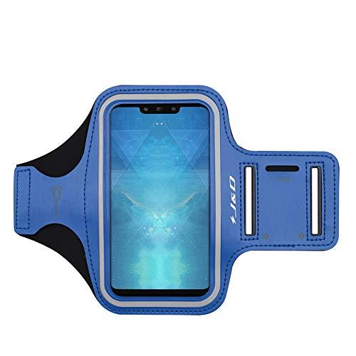 J&D Compatibile per Fascia da braccio Sportiva per Huawei P20/P20 Lite/P10/P10 Lite/P30/P30 Lite/ iPhone XR/Samsung Galaxy Note 10 Bracciale con Portachiavi slot, Connessione Auricolare Perfetta