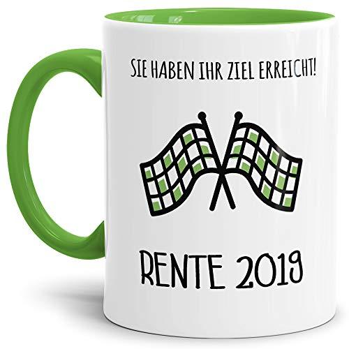 Tassendruck Geschenk-Tasse Zum Ruhestand mit Lustigem Spruch:Ziel Erreicht 2019
