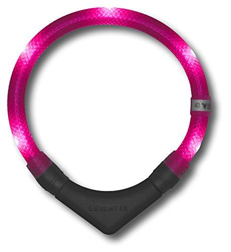 LED Leuchthalsband LEUCHTIE® Plus hotpink Größe 60 LED Halsband