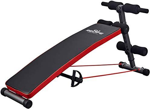 RELIFE REBUILD YOUR LIFE Panca Reclinabile da Palestra, per esercizio fisico e allenamento fitness, pieghevole e regolabile, ideale per esercizi addominali Nuovo Design