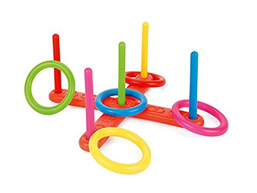 Hoop Ring Toss Plastic Quoits Garden Game Pool Toy Outdoor Fun Set Summer Sports Day Sunny Throwing Game Competition