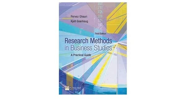 Research Methods in Business Studies: A Practical Guide