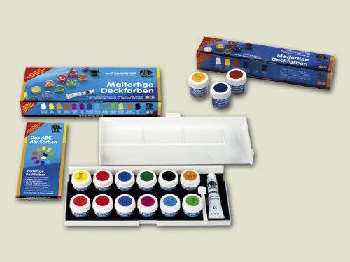 6 x Nerchau Deckfarben malfertig in Bechern 18ml 12 Farben