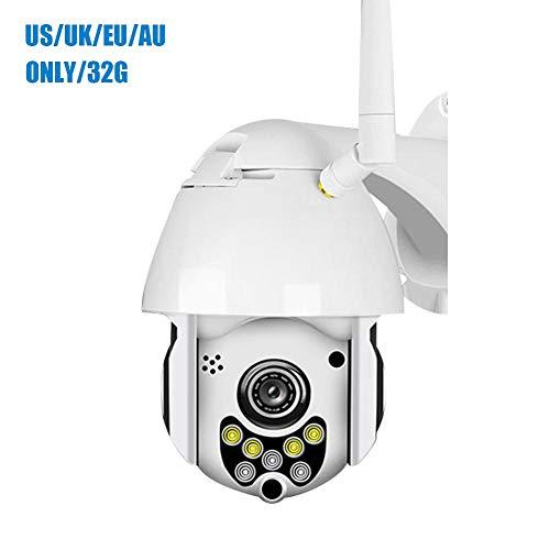 Tomobile Überwachungskamera Aussen WLAN 1080P Dome IP Kamera PTZ, IP66 Wasserdichte Bewegungserkennung Infrarot Nachtsicht20m Supporto TF Card da 128 GB Kompatibel mit Smartphones/Tablets/Windows