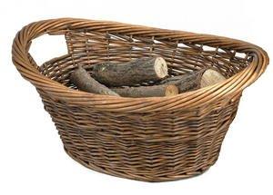 Manor Brown Willow Log Basket 0302