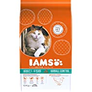 Iams ProActive Health Complete and Balanced Cat Food with Chicken for Hairball Control, 10 kg