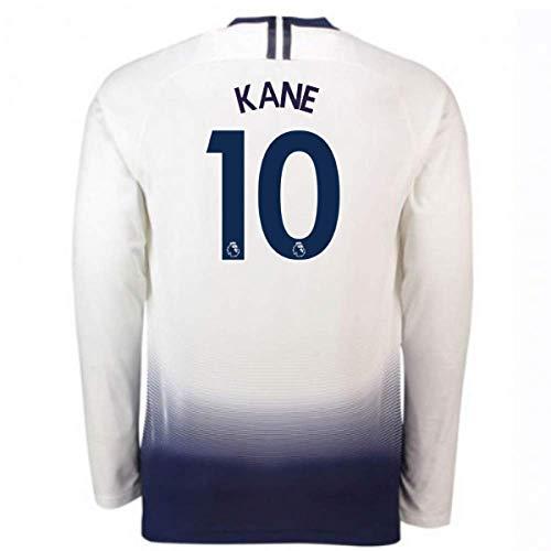 2018-2019 Tottenham Home Long Sleeve Nike Football Soccer T-Shirt Camiseta (Harry Kane 10)