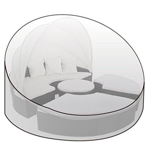 WOLTU® Housse de Protection résistante aux déchirures, Couverture Meubles de Jardin, pour l'île de Soleil imperméable 175x85cm, Transparent GZ1195tp-c