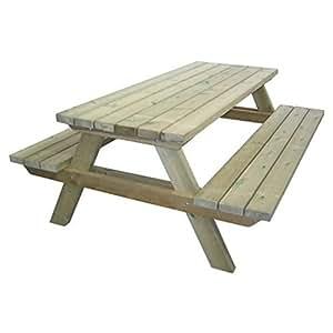 Tavolo picnic 180x120xh70 legno robusto panche seduta - Tavolo e panche da giardino ...