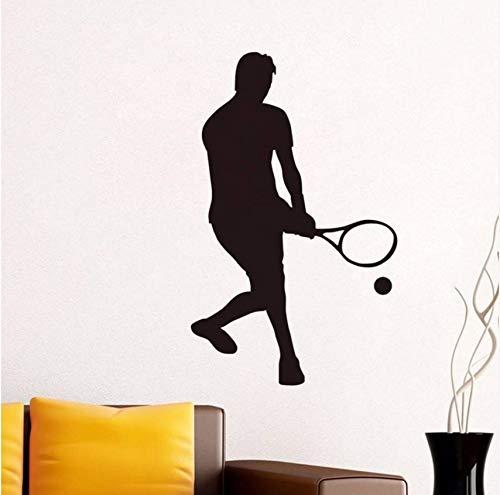 (Lvabc Neue Ankunft 2017 Wohnkultur Vinyl Abnehmbare Wandtattoo Selbstklebende Low Serve Tennis Wandaufkleber Für Wohnzimmer Wandbild 36X59 Cm)