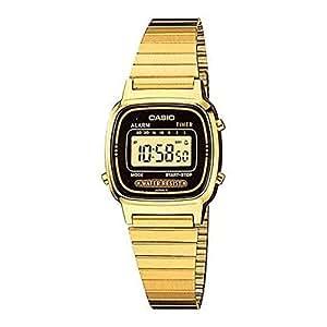 casio damen armbanduhr digital alarmfunktion vergoldet. Black Bedroom Furniture Sets. Home Design Ideas