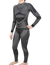 Damen Funktionsunterwäsche Set / Thermo Langarm Shirt + Lange Unterhose - POLAR HUSKY® COMPRESSION