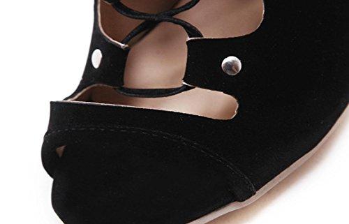YCMDM FEMME Chaussures à talons hauts Chaussures de printemps Chaussures sexy à talons hauts Black