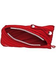 Wedo Trousse 2425138902Monster en polyester fermeture éclair, 22x 2x 9cm, rouge