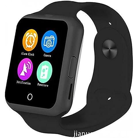 Smartwatch Reloj elegante D3 moda simples luces brillantes luces led de colores rush-feliz Valle tasa tarjeta MTK6261 el termómetro alcanzó hasta en pantalla Bluetooth Vestido , black