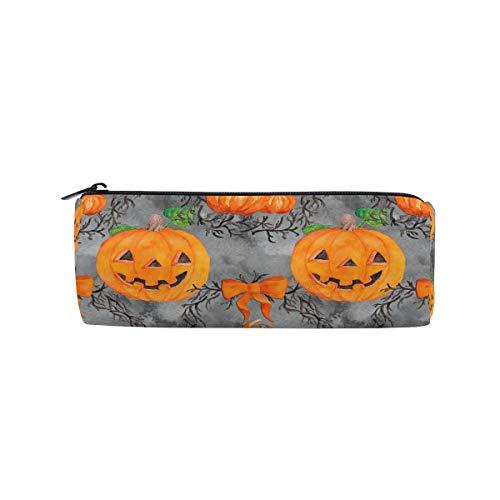 Bonipe Federmäppchen, Halloween, lustiges Kürbis-Emoji-Bleistiftetui für Schule, Schreibwaren, Stiftebox, Reißverschluss