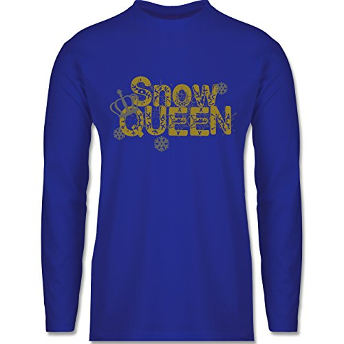 Après Ski - Snowqueen - Longsleeve / langärmeliges T-Shirt für Herren Royalblau