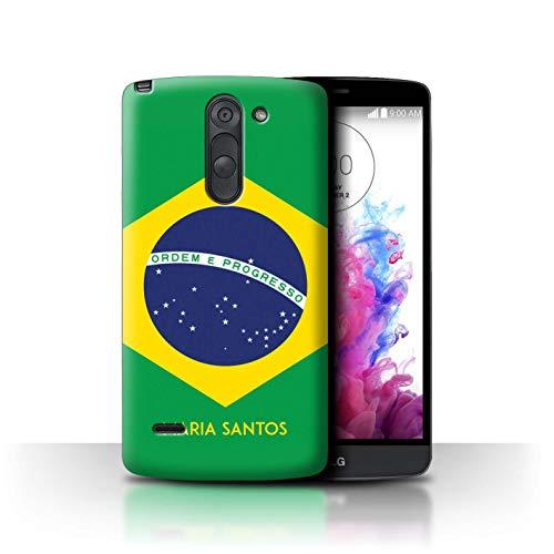 eSwish Personalisiert Individuell National Nation Flagge 3 Hülle für LG G3 Stylus/D690 / Brasilien/Brasilianer Design/Initiale/Name/Text Schutzhülle/Case/Etui (Cover Lg G3 Stylus-telefon)
