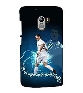 printtech Football Player Back Case Cover for Lenovo K4