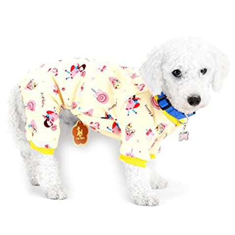 Zunea Petit Animal Chien Pyjama en polaire doublée Puppy Intérieur tenues JumpSuit Lollipop Cat Doggie Chaton Manteau chaud Pitbull Teckel Chihuahua Yorkshire robes Vêtements Apparel