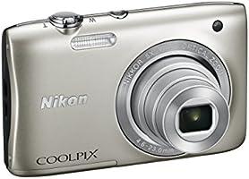 """Nikon Coolpix S2900 Fotocamera Digitale Compatta, 20,1 Megapixel, Zoom 5X, 3200 ISO, LCD 2,7"""", HD, colore: argento [Nital card: 4 anni di garanzia]"""