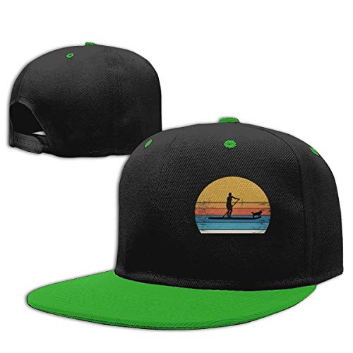 Roing BO Surfer and Dog Hip Hop Caps Cotton Baseball Hat Boy&Girl Green
