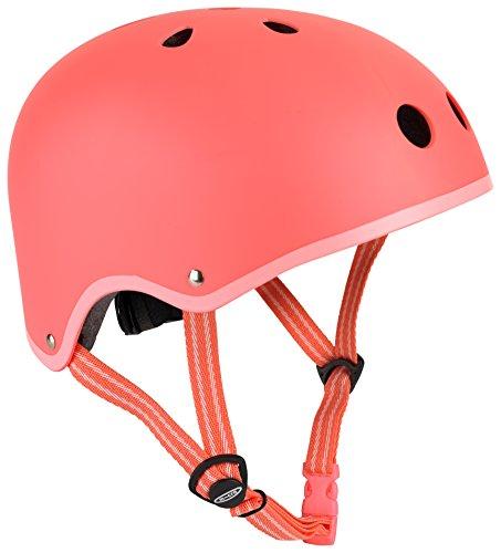 Micro - Casco Infantil v1 Seguridad Patinete, Bicicleta, Deportes Aire Libre. 2-12 años (M, Rosa Coral)