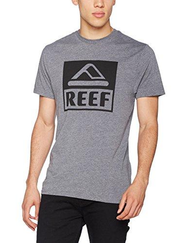 Reef_Apparel Herren T-Shirt Reef Logo Tee Big Grau (Heather/Grey Hgr)