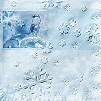 Paper + Design Tovaglioli carta Frozen fiocchi neve fondo azzurro e palla di neve pz. 16 33x33 cm
