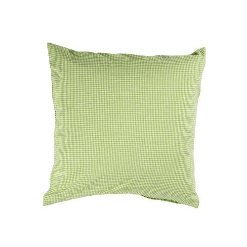 Kissenbezug, Karo 2x2 mm, Baumwolle, kariert, Landhaus, gewebt, Reißverschluss, Kopfkissen | 50x50 cm - Hellgrün