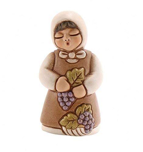 Thun® - donna vendemmiatrice con uva - versione bianca - statuine presepe classico - ceramica - i classici