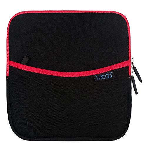 Lacdo, custodia portatile antiurto per masterizzatori, hard disk e unità esterne DVD/Hard Drive/GPS, con tasca extra portaoggetti, in neoprene Red