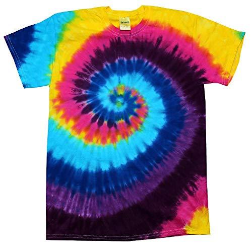 Colortone - Unisex Batik T-Shirt \'Swirl\' / Carnival, XL