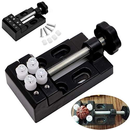 SODIAL 1 Stuecke schwarze Klammerbacke Bohrmaschine Vize-Mini-Clip Schraubstock Walnusszange Mini Tischschraubstock DIY Handwerkzeug